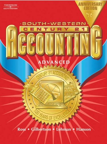9780538435345: Century 21 Accounting Anniversary Edition, Advanced Text
