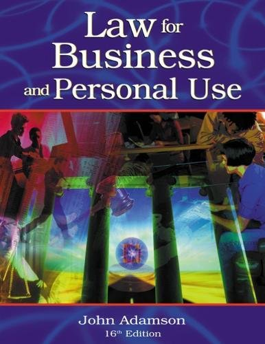 9780538436229: Law for Business and Personal Use
