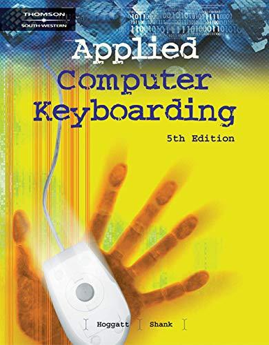 9780538436588: Applied Computer Keyboarding