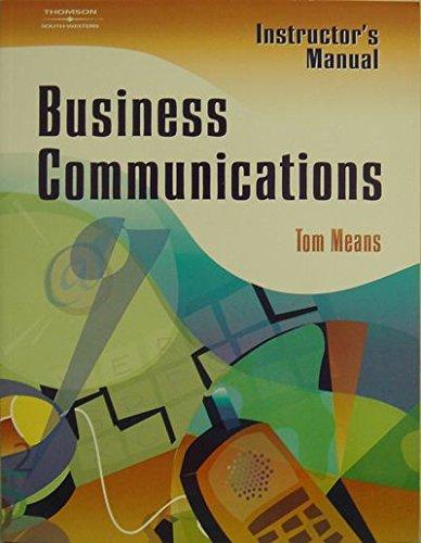 Business Communications: Thomas L. Means