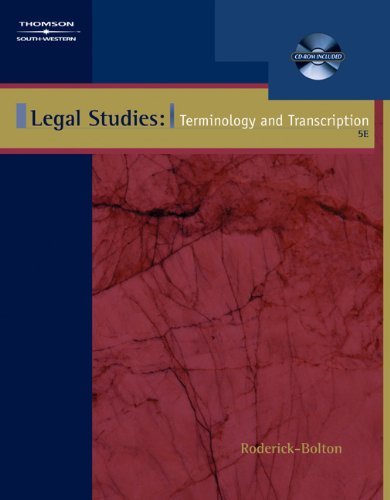 9780538437226: Legal Studies: Terminology & Transcription (with CD-ROM)