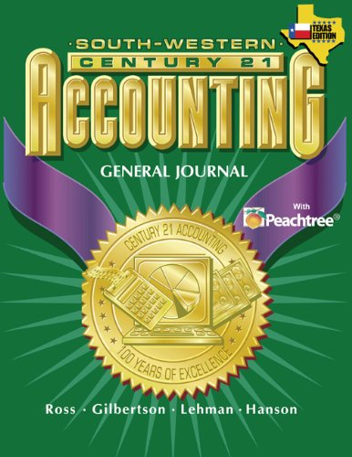 9780538437349: Century 21 Accounting for Texas General Journal