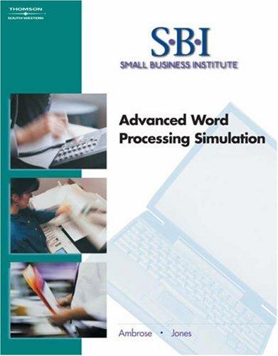 9780538437547: SBI: Advanced Word Processing Simulation