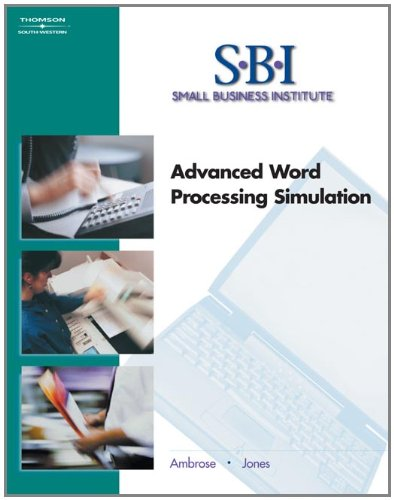 9780538437554: SBI: Advanced Word Processing Simulation (with CD-ROM) (Word Processing I)