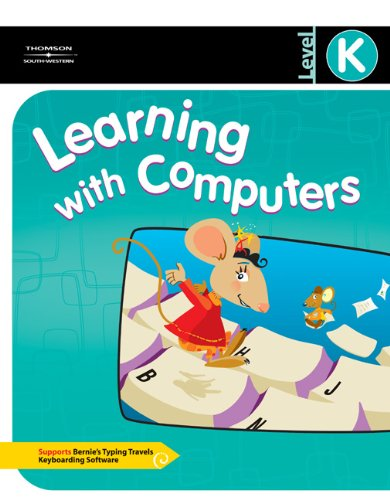Learning with Computers 9780538437776 South-Western's Learning With Computers Levels K-5 is a series of project-based keyboarding books that teach and reinforce computer application skills to elementary students. This series covers the computer literacy skills established by the National Educational Technology Standards or NETS. Students learn to use a word processor, the Internet, graphics and presentation, spreadsheet, and database software while integrating core-curriculum skills of language arts, mathematics, science, and social studies. Additional cross-curricular activities to reinforce the computer skills taught are available at the end of each of the projects. Learning with Computers Level K teaches computer awareness skills. Students are introduced to the software applications and learn how the programs can be used to accomplish simple tasks. Awareness skills introduced include: parts of the computer, correct posture at the keyboard, demonstration of proper disk use and care, how to use a mouse, and more. This 128 page text is softcover, top spiral, and has an easel back. It is a standalone product that also supports Bernie's Typing Travels Keyboarding software.