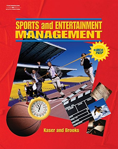 Sports and Entertainment Management (Sports Management) 9780538438292 Sports and Entertainment Management serves as a one-semester course for marketing and business management students. Using topics in the sports and entertainment industries, the text and multimedia supplements cover the basic functions of management as outlined in national and state standards. Management topics discussed in the twelve chapters include leadership, finance, product management, people management, information management, legal and ethical issues, customer relations, sales management, managing change, and career development.