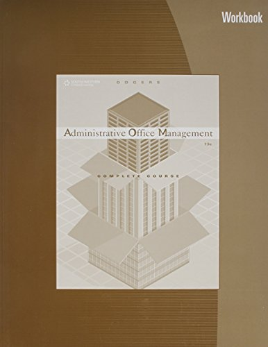 Stock image for Administrative Office Management Workbook for sale by Discover Books