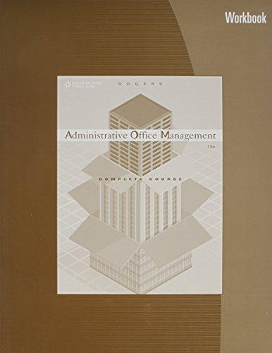 9780538438582: Administrative Office Management Workbook