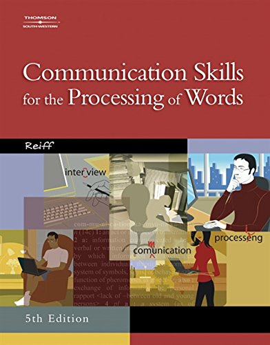 9780538439541: Communication Skills for the Processing of Words