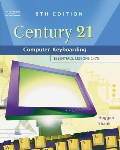 9780538439596: Century 21™ Computer Keyboarding: Essentials, Lessons 1-75