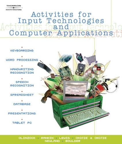 9780538441988: Activities for Input Technologies and Computer Applications