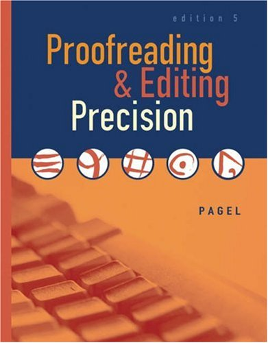 9780538442480: Proofreading and Editing Precision (with CD-ROM)