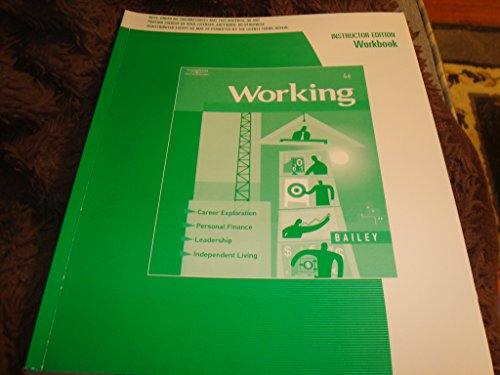 Working 4e Instructor's Edition Workbook: thomson south-western