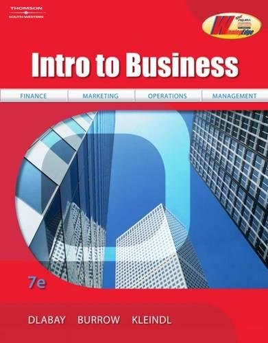 Intro to Business: Dlabay, Les; Burrow,