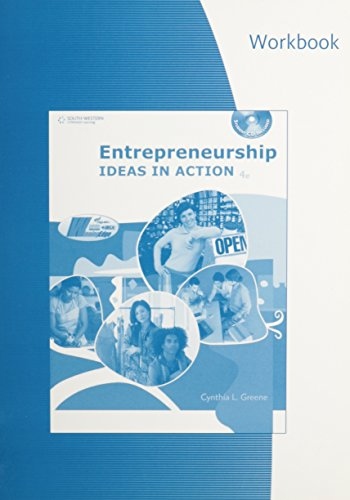 9780538446167: Workbook for Greene's Entrepreneurship: Ideas in Action