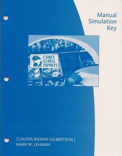9780538447416: Manual Simulation Key, Unique Global Imports