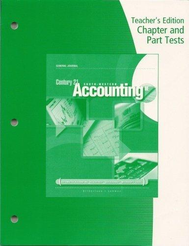 9780538447768: Te Prntd Tests C21 Acct Gj 9e