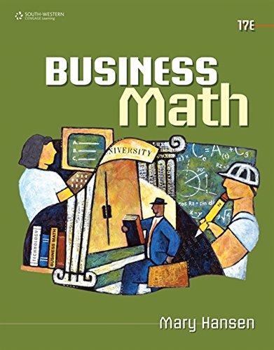 9780538448734: Business Math