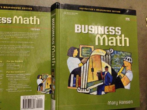 9780538448857: Instr Wrap ed Business Math