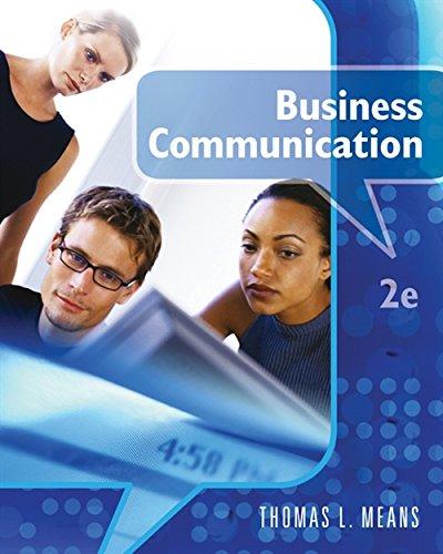 Business Communications: Means, Thomas L./