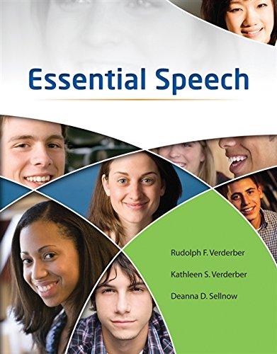 Essential Speech (Language Arts Solutions): Verderber, Rudolph F.;