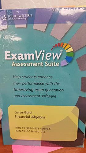 9780538450195: Financial Algebra: Advanced Algebra with Financial Applications 1st: Examview Test Generator