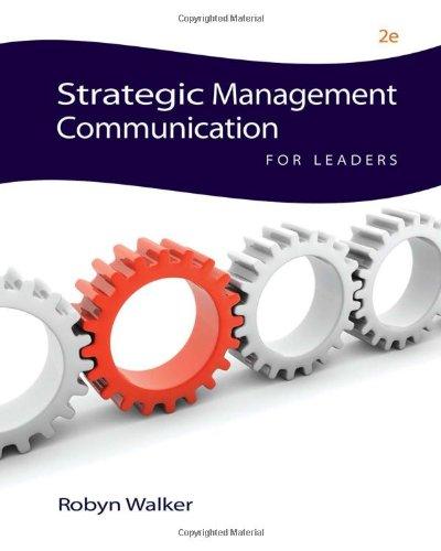 9780538451345: Strategic Management Communication for Leaders