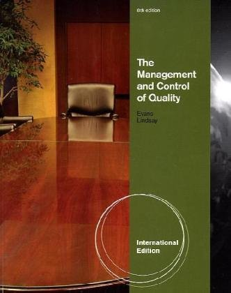 9780538452601: The Management and Control of Quality