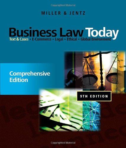9780538452809: Business Law Today: Comprehensive: Text and Cases