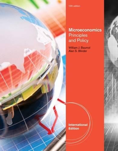 9780538453639: Microeconomics: Principles and Policy, International Edition
