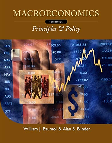 Macroeconomics: Principles and Policy (0538453656) by Alan S. Blinder; William J. Baumol