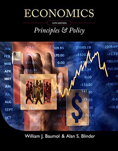 Economics: Principles Policy (Hardback): Academic Director Berkley Center for Entrepreneurial ...