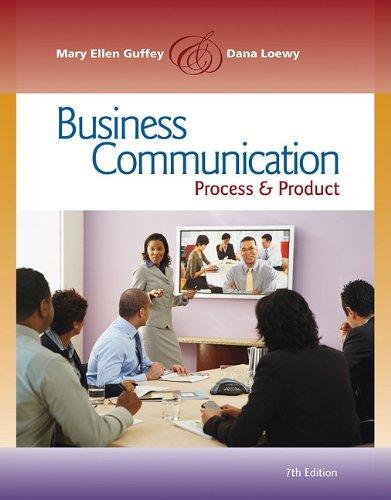 9780538466264: Business Communication: Process and Product (Book Only)