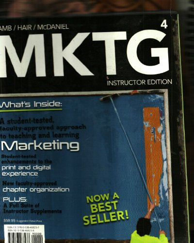 9780538468237: MKTG 4, Instructors Edition