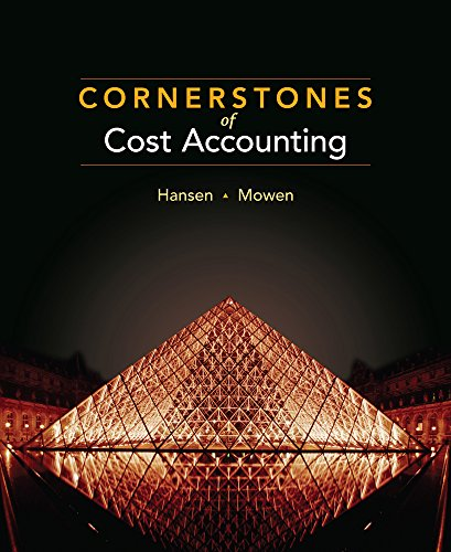 9780538469081: Cornerstones of Cost Accounting