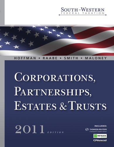 9780538469654: South-Western Federal Taxation 2011: Corporations, Partnerships, Estates and Trusts (with H&R Block @ Home Tax Preparation Software CD-ROM, RIA Checkpoint & CPAexcel 2-Sememster Printed Access Card)