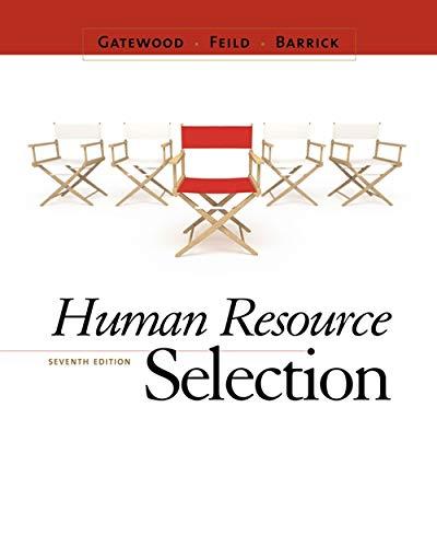 9780538469944: Human Resource Selection