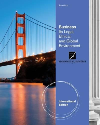 9780538470537: Business: Its Legal, Ethical, and Global Environment
