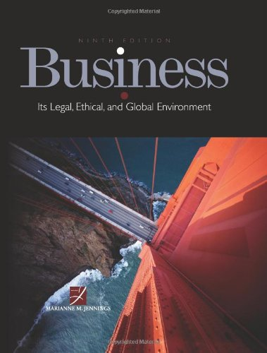 9780538470544: Business: Its Legal, Ethical, and Global Environment