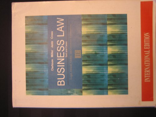 9780538470810: Business Law: Text & Cases