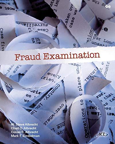 Fraud Examination: W. Steve Albrecht,