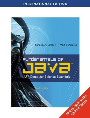 9780538471589: Fundamentals of Java: AP Computer Science Essentials, International Edition