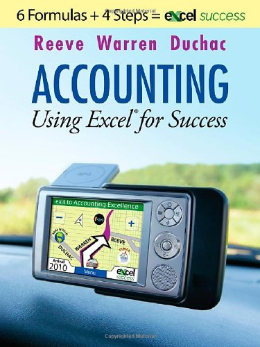 9780538472494: Accounting Using Excel for Success