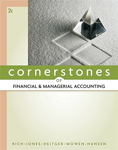 9780538473484: Cornerstones of Financial and Managerial Accounting