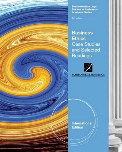 case study related to business ethics Case studies and codes of ethics: developed a comprehensive set of case studies and related them to case studies and cased of ethics.