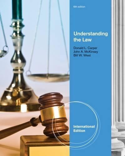 9780538473606: Understanding the Law, International Edition