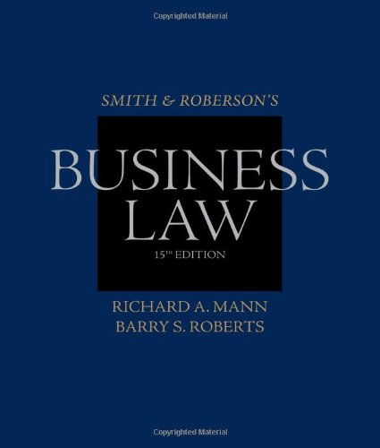 9780538473637: Smith and Roberson?s Business Law (Smith & Roberson's Business Law)