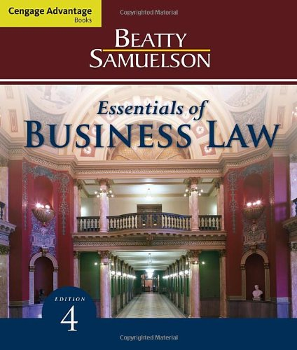 9780538473804: Cengage Advantage Books: Essentials of Business Law