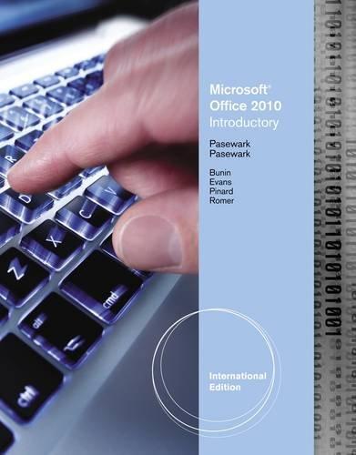 9780538475181: Microsoft® Office 2010