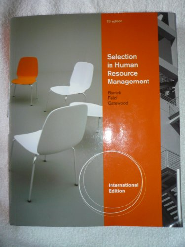 9780538475549: Selection in Human Resource Management 7th Edition International Edition